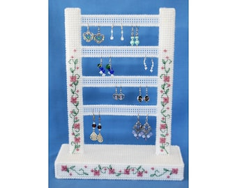 PATTERN: Posy Earring Holder in Plastic Canvas