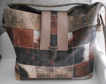 Brown shoulder bag / clutch / handbag