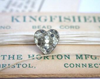 Heart of Glass Victorian Button