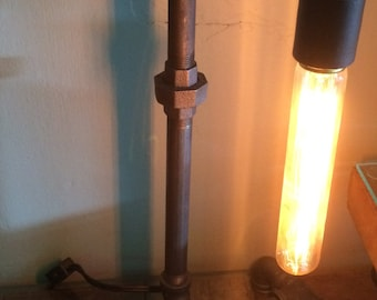 Black Iron Pipe Lamp