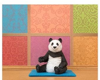 30% OFF SALE Yoga studio animal pose art print: Panda Posing