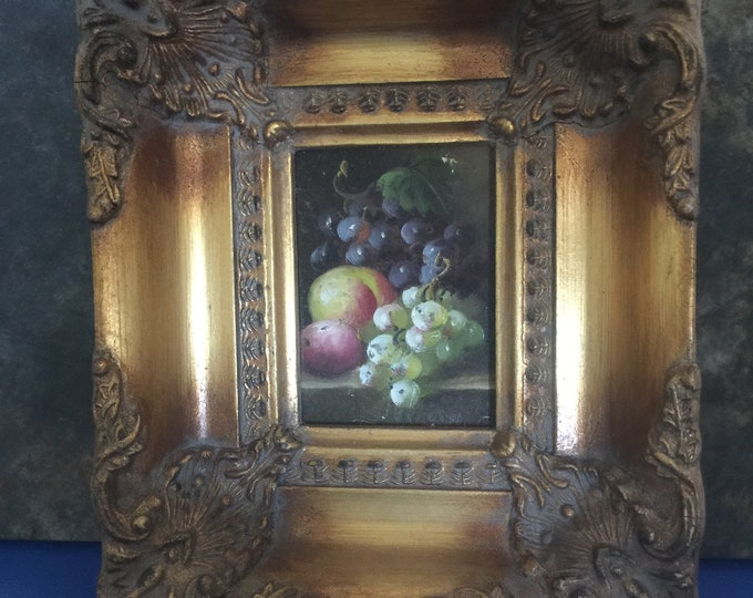 Vintage Still Life Painting in Gilt Frame