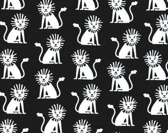 Half yard - Mini Lions in Black - Michael Miller cotton quilt fabric