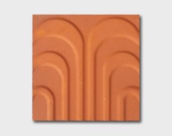 Soviet tiles / vintage tiles / mid century tiles / terracotta tiles / geometric tiles / ussr tiles / historical tiles / dead stock tiles