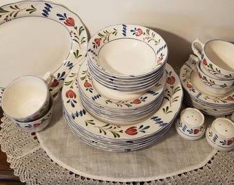 Vintage Nikko Provential Japan Dinnerware Set for Six 5 piece Place & Nikko plates | Etsy