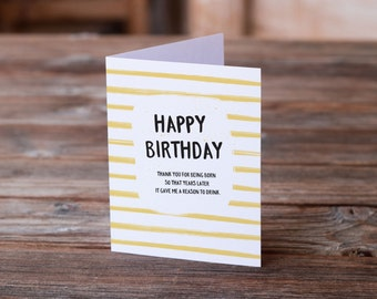 Birthday Card | Reason to Drink | Greeting Card