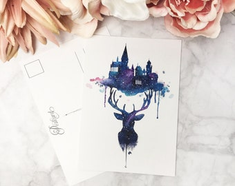 Watercolor printed POSTCARD - Always.