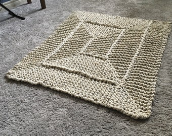Chunky Knit Spiral Blanket
