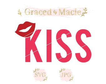 KISS with Lips SVG