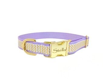 Chevron Dog Collar, Personalized Dog Collar,All Sales Final,