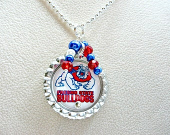Fresno State Jewelry, Fresno State Bulldogs, Fresno State Necklace, Bulldogs Jewelry, Bulldogs Necklace, College Girl Gift, Fresno State
