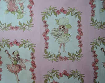 "23"" x 44"" of Sweet Fairies in Pink. Flower Fairies by Micheal Miller."