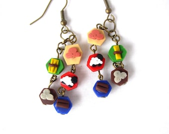 Settlers of Catan Resource Earrings