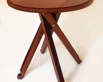 The Windmill, Four legs Drop Leaf Bistro Table, Recycled Oak Wine Barrel
