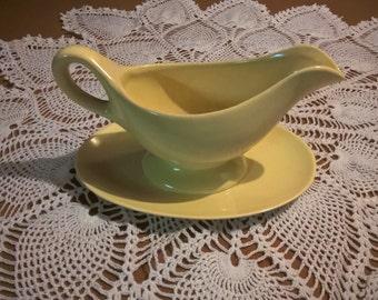 Franciscan Ware Yellow  Gravy Boat