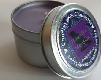 HAUNTED MANSION - Candles with Character | Soy Wax Candle | Hand Poured | Disney Scented | Wedding Favors | Gift | Travel Tin