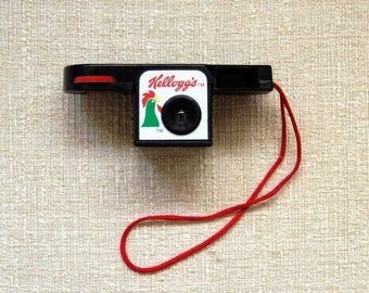 Kellogg's Cereal Camera, Corn Flakes Rooster Logo, 110 Microcam, Display Camera, Owner's Manual, Box, Vintage Advertising, New Old Stock