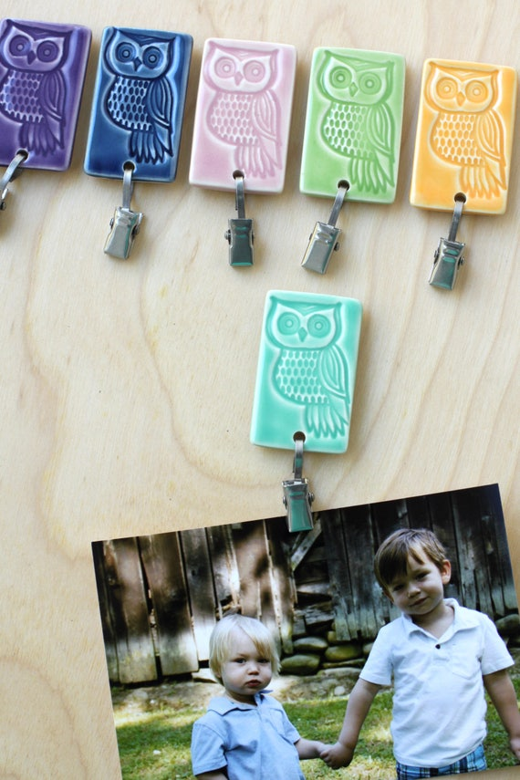 magnetic clip with owl, your choice of one
