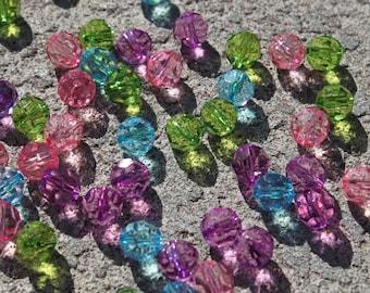 Round Acrylic Bead MIXED COLOR - Quantity 50