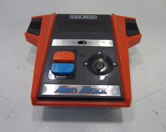 1982 Coleco Alien Attack Handheld Video Game, Model No. 2370