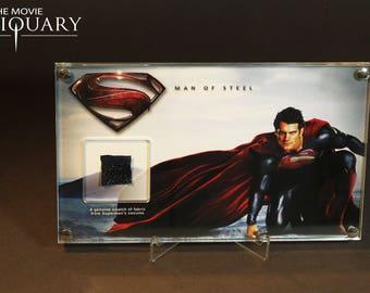 Man of Steel - Superman costume swatch display