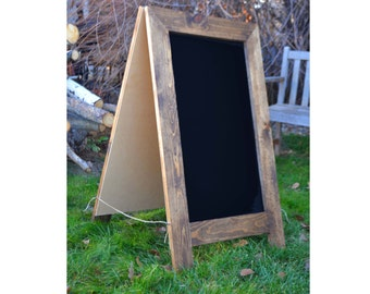 Rustic Sandwich Chalkboard 40x24, A-Frame Chalkboard, Chalkboard Easel, Wedding Sign, Menu, Fourth of July, Restaurant Sign, Double Sided