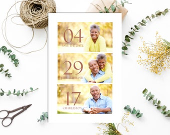 Vow Renewal | Save The Date | Save The Date with Pictures | Save The Date Card | Marriage Vows | Vow Renewal Announcement | Affordable | 4x6