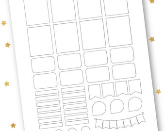Mixed Template // Printable Template // Vertical Erin Condren Life Planner Stickers