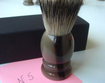 1 pc 22mm Knot Silvertip Badger Hair Shaving Brush Real Horn Handle #5