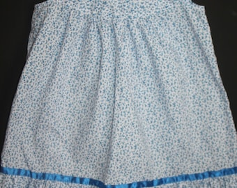 Girls hand crafted blue dress 4-5 years