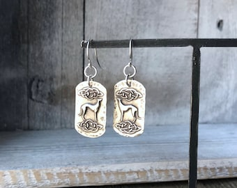 Celtic Cosmo Greyhound Small Earrings - Fine & Sterling Silver - Hook - Post - Leverback - Long Hook - Ready to Ship