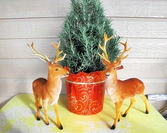 Set of Two Vintage Christmas Reindeer by Kowgirl Kitsch on Etsy