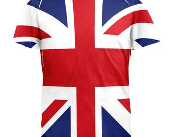 British Flag Union Jack All Over Mens T Shirt