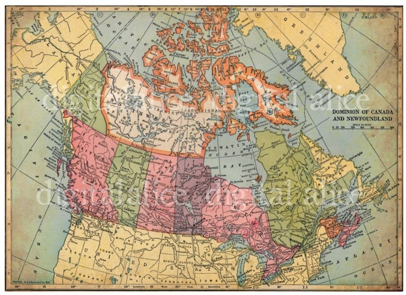 Vintage 1938 canada map canadian instant download digital vintage 1938 canada map canadian instant download digital printable 85 x 11 in diy print as many as you like gumiabroncs Choice Image