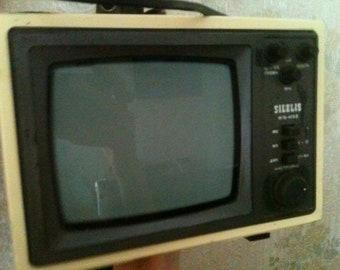 television USSR shilelis TB16-403D USSR Soviet mini TV shiljalis Lithuania. Rare vintage work