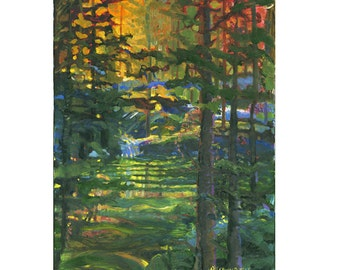 Kettle Pond Giclee Fine Art Print of Original Oil Painting