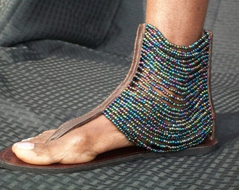 Spartan sandals.Tie up sandals.Handcrafted sandals.Greeksandals.Indian sandals.Multi strand sandals.Ankle wrap sandals.Honeymoon sandals