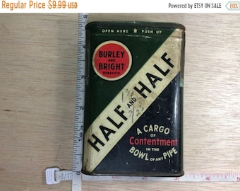 10%OFF3DAYSALE Vintage Old Half And Half Tobacco Tin Used