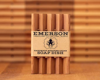 Cedar Soap Dish • Natural, Hand Cut, Fragrant Western Cedar Soap Dish, Zero Waste, Waste Free