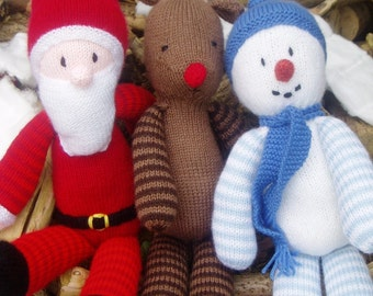 PDF Knitting Pattern - Christmas Trio