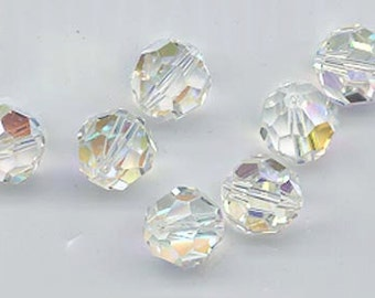 Twelve non-standard Swarovski crystals - Art. 5000 - 10 mm - crystal AB