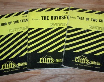 Tale of Two Cities - The Odyssey - Lord of the Flies ~ Cliff Notes Assortment - All THREE for one price