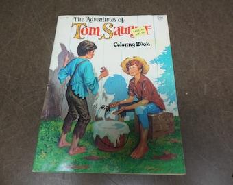 Vintage Tom Sawyer Coloring Book - Children's Educational Book Vintage Decor