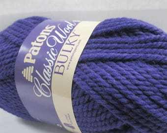 Patons Classic Wool Bulky Weight Lot of 6 100 gram skeins 89310 Aster Purple