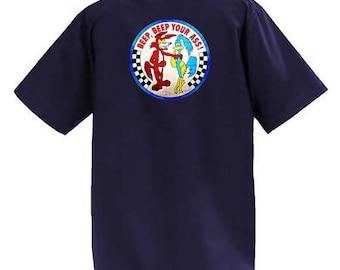 Mopar Beep Beep -  Short Sleeve Graphic Shop Work Shirt