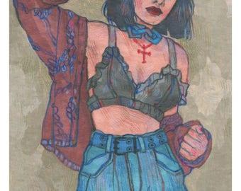 Evie - Original Art - Marker Drawing