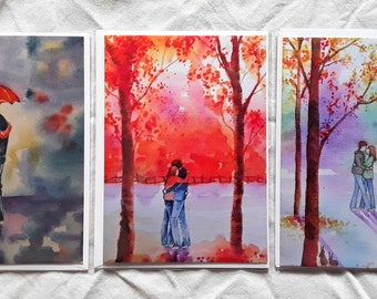 The Lovers Collection set of three art cards
