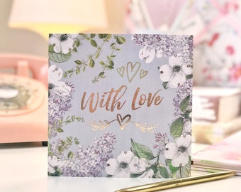 Botanical and Gold Foil With Love Card
