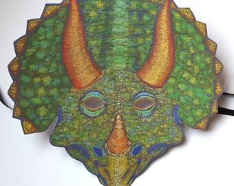 Dinosaur Mask / Triceratops Mask