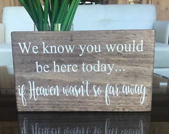 If Heaven wasnt so far away...wood sign